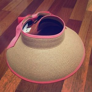 Accessories - Tan and Pink with Pineapple accent beach hat